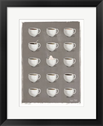 Framed Give Me All the Coffee Print
