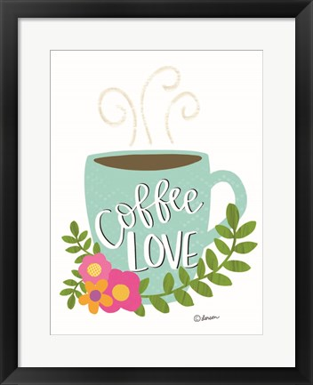 Framed Coffee Love Print