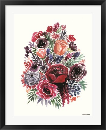 Framed Moody Florals Print