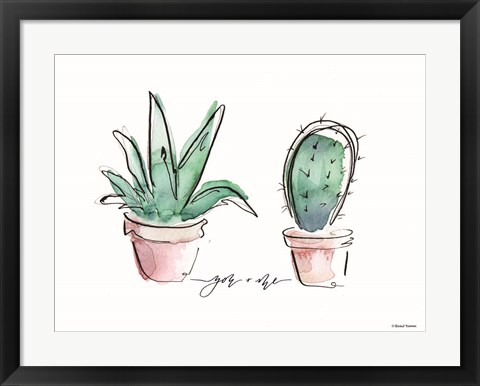 Framed You and Me Cactus Print