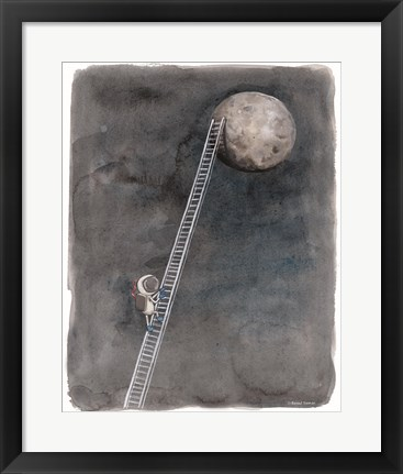 Framed Ladder to the Moon Print