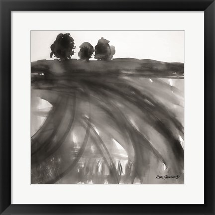 Framed Abstract Landscape Print