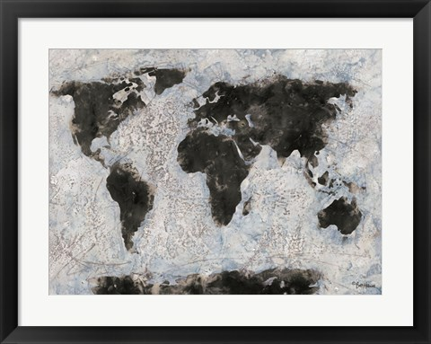 Framed Old World Map Print