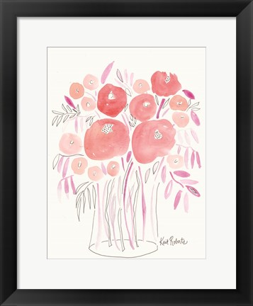 Framed Guava Blooms and Bubblegum Leaves Print