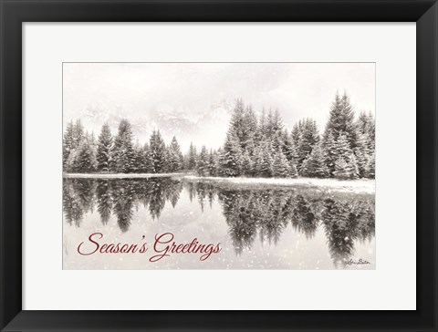 Framed Schwabachers Seasons Greetings Print