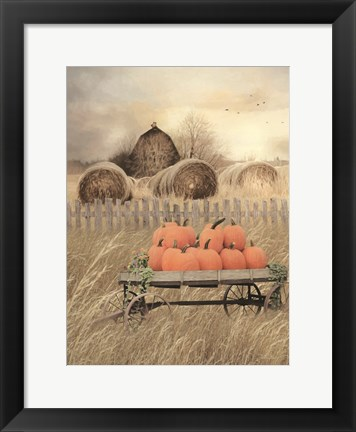 Framed Pumpkin Harvest Print