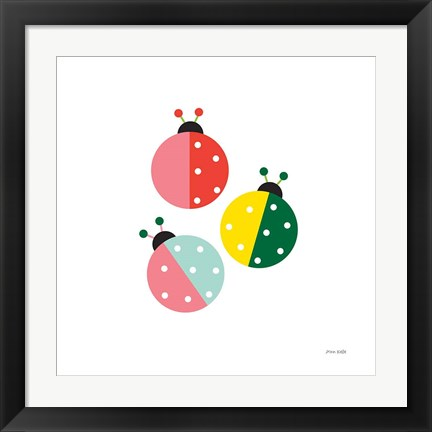 Framed Ladybugs Three Print