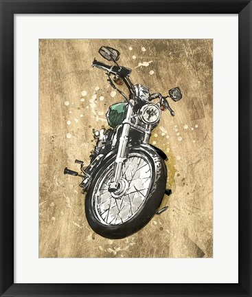 Framed Metallic Rider II Print