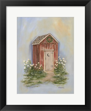 Framed Country Outhouse II Print