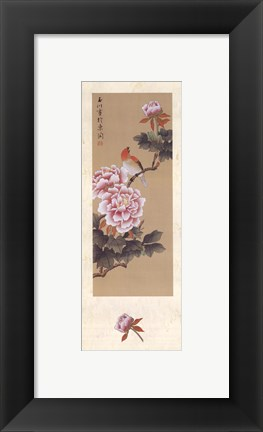 Framed China Blossom I Print