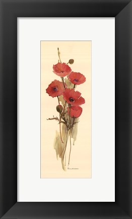 Framed Crimson Poppy Print