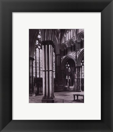 Framed Lincoln Cathedral Angel Choir 1895 Print