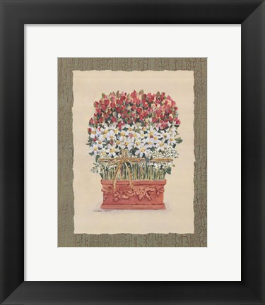 Framed Daisy Topiary Print