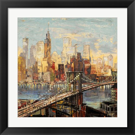 Framed Sera su Manhattan Print