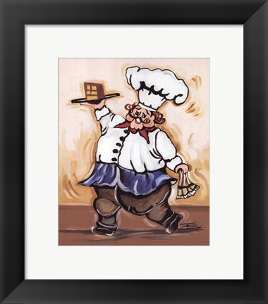 Framed Service with a Smile IV Print