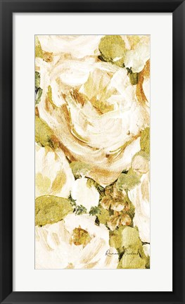 Framed Golden Glitter Roses No. 1 Print