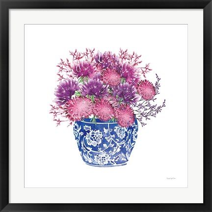 Framed Chinoiserie Style IV Print