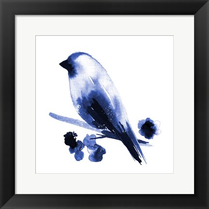 Framed Watercolor Chickadee I Print