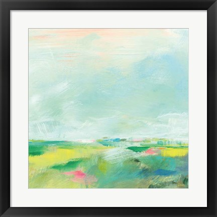 Framed Colorful Horizon Square II Print