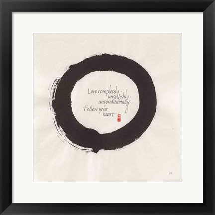 Framed Love Completely Print