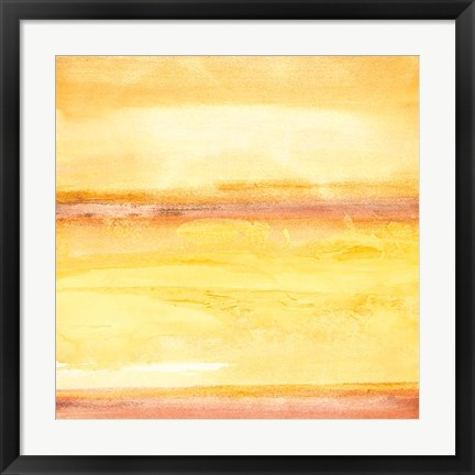 Framed Golden Sands III Print