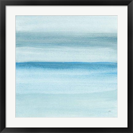 Framed Coastal Abstraction II Print