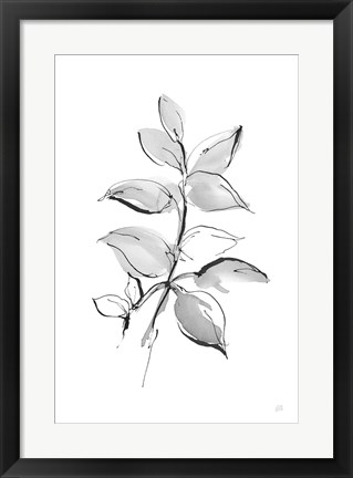 Framed Wash Leaf I Print