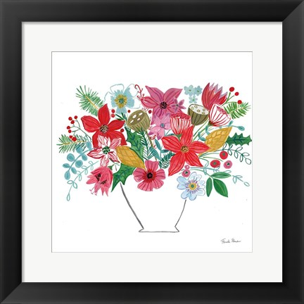 Framed Holiday Bouquet II Print