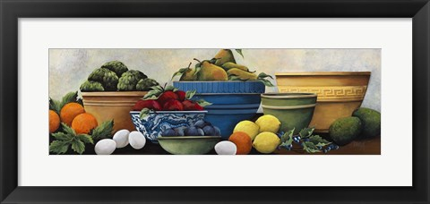 Framed Fruit Bowls Print