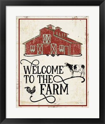 Framed Farm Signs C Print