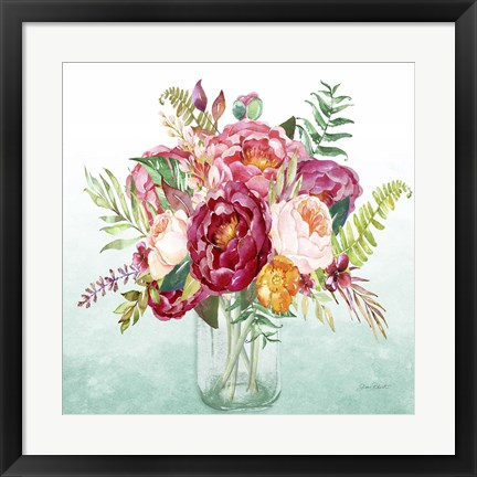 Framed Beautiful Floral Bouquet B Print