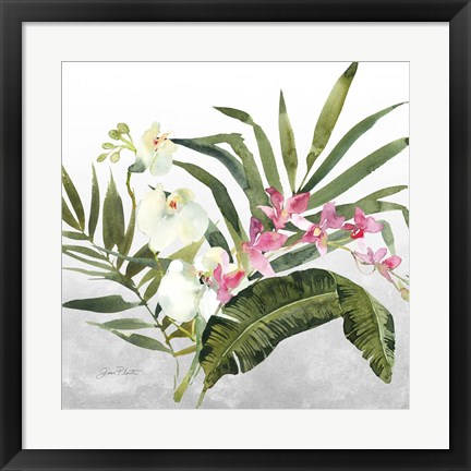 Framed Beautiful Orchids B Print