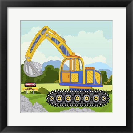Framed Construction Fun A Print