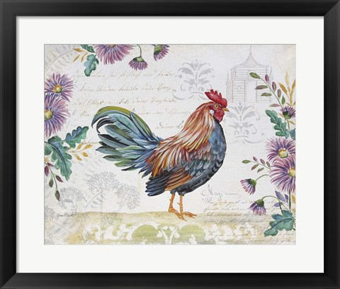 Framed Seasonal Rooster 5 Print