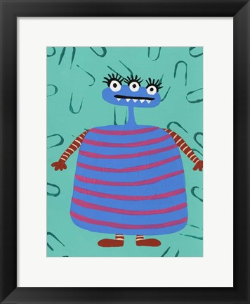 Framed Happy Creatures III Print