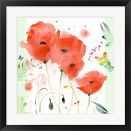 Framed Poppies Chinoise Print