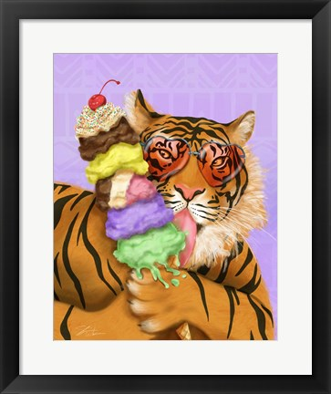 Framed Party Safari Tiger Print