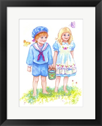 Framed Jack And Jill Print