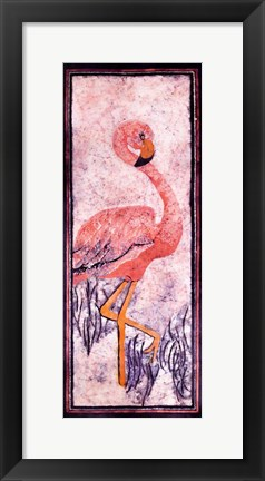 Framed Flamingo 1 Batik Print