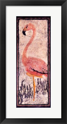 Framed Flamingo 2 Batik Print