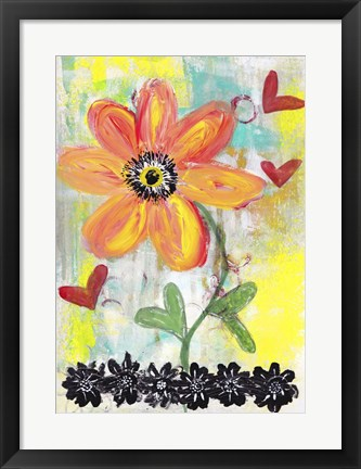 Framed Orange Flower Print