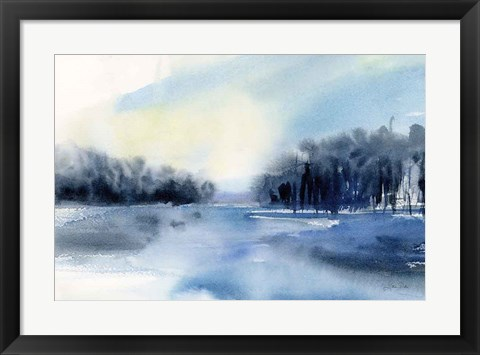 Framed Winter River Print
