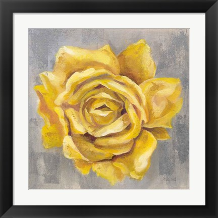 Framed Yellow Roses II Print