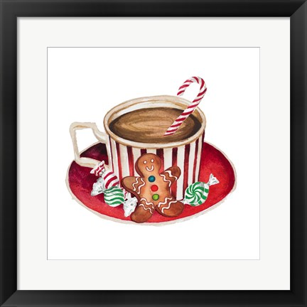 Framed Gingerbread and a Mug Full of Cocoa III Print