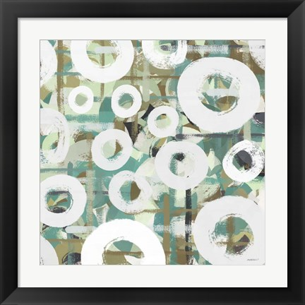 Framed White Spheres II Print