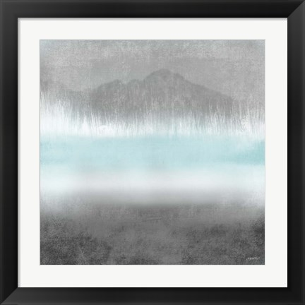 Framed Foggy Loon Lake II Print