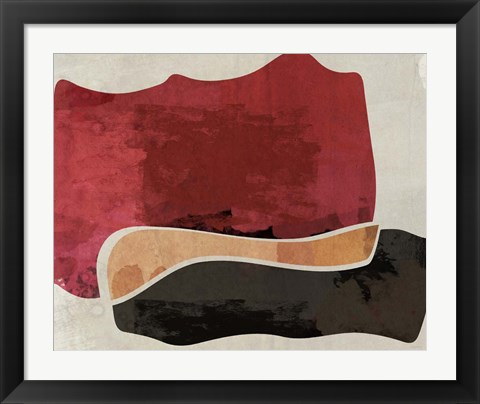 Framed Red and Black Machine Abstract Print