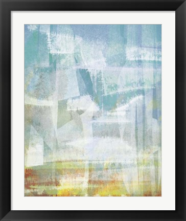 Framed Scattered Sky Abstract Print