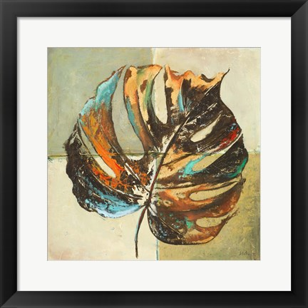 Framed Contemporary Leaves I Print