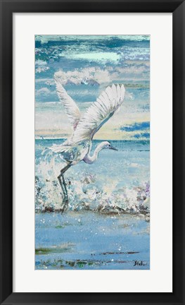 Framed Great Blue Egret I Print